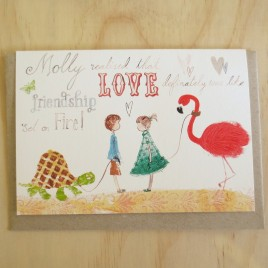 Molly Love Flamingo card