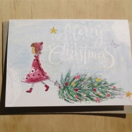 Molly's Christmas in the snow greeting card