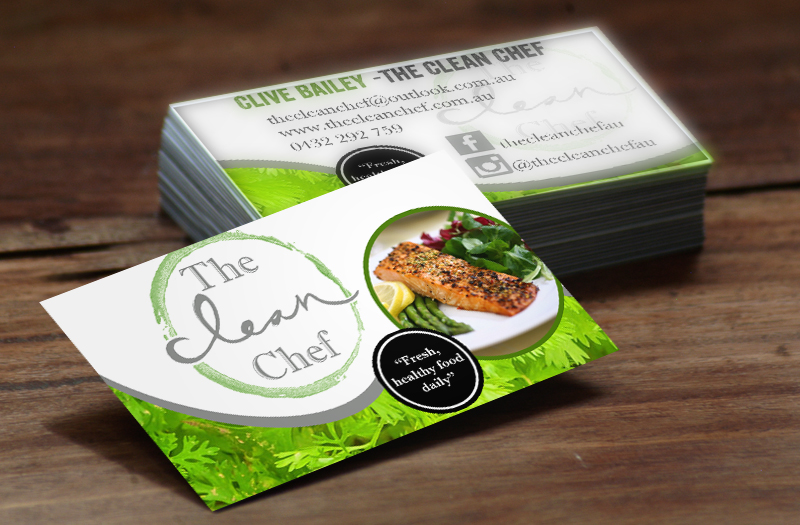 business cards the clean chef