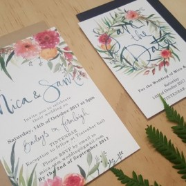 Mica and Sam wedding Invitations