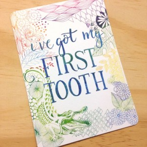 First Tooth Milestone Card