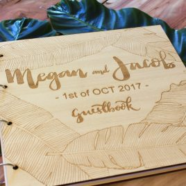 Wooden Laser engraved Guestbook