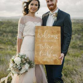 hand painted wedding signs wooden