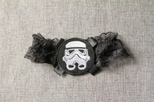 star wars themed wedding. Garter