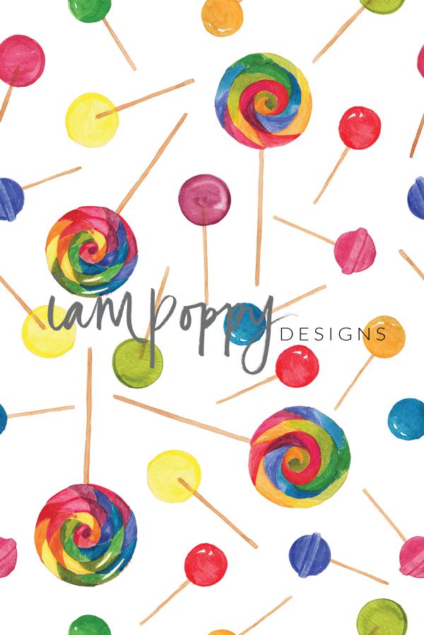 rainbow lollie pattern